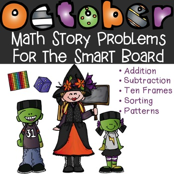 October Math Word Problems for the SMART Board