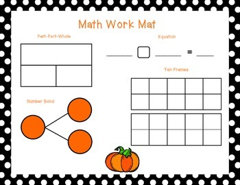 October Math Work Mat