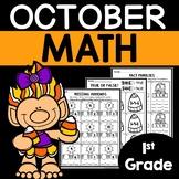 October Math Worksheets 1st Grade