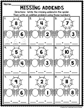 October Math Worksheets 1st Grade