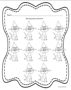Halloween Math and October Printables
