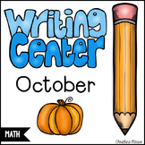 October Math Writing Station