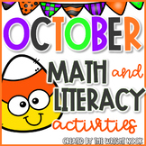 Math and Literacy Activities Bundle for October