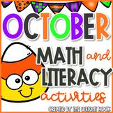October Math and Literacy Acivities Bundle