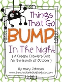 October Math and Literacy Activities (spiders, bats, and owls)
