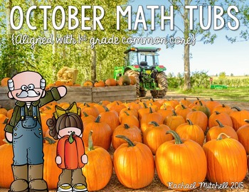 October Math and Literacy Center BUNDLE- Aligned with Common Core