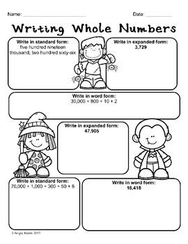 October Math and Literacy Printables for 3rd or 4th Grade No Prep!