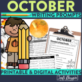 OCTOBER WRITING PROMPTS journal HALLOWEEN ACTIVITIES theme