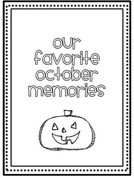 October Memory Writing Prompt