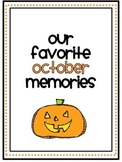 October Memory Writing Prompt