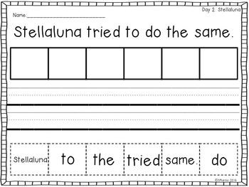 October Mentor Sentence Bundle