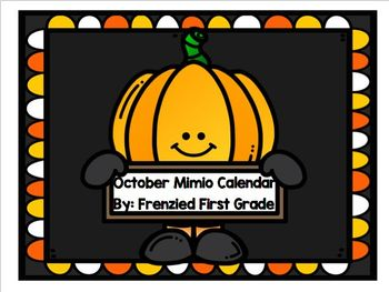 October Mimio Calendar