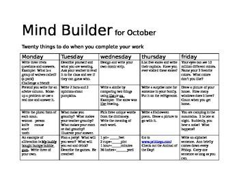 October Mind Builder