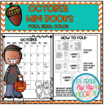 October Mini Books...Just Print, Fold, Read!