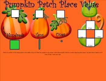 1st Grade October SMARTBoard Common Core Monster Math Calendar