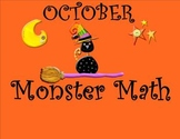 1st Grade October SMARTBoard Common Core Monster Math Calendar