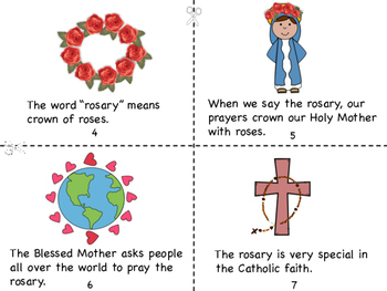 October:Month of The Holy Rosary Mini Book/Rosary Tracking Grid/Coloring Page