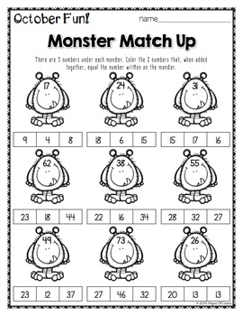 October Monthly Printables (Math, Science, & ELA)