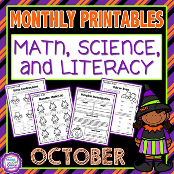 October Monthly Printables (Math, Science, & Literacy)