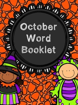 October Monthly Word Booklet and Poster