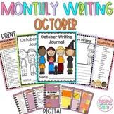 October Monthly Writing Journal Story Starters (Google Sli