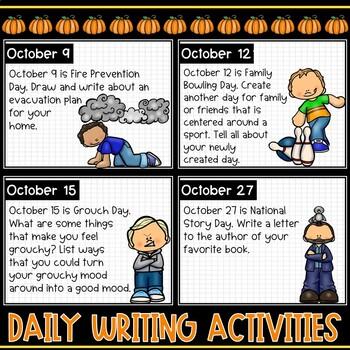 October Morning Activities