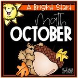 October Morning Bright {Kindergarten Math Morning Work}