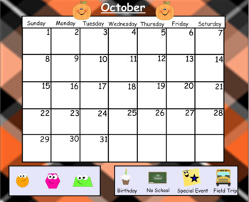 October Morning Calendar Lesson