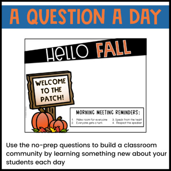 October Morning Meeting Question of the Day