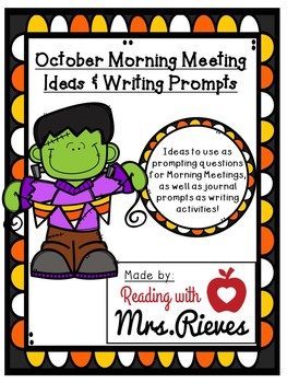 October Morning Meeting Questions