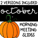 Social Distance   October Morning Meeting Slides