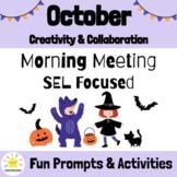 October Morning Meeting Slides & Workbook   Social Emotion