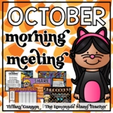 October Morning Meeting and Calendar First Grade