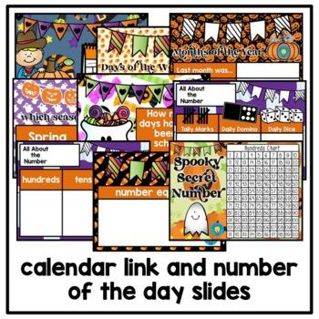 October Morning Meeting and Calendar First Grade