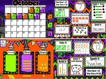 October SMARTboard Morning Meeting with Calendar and Much More!