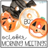 October Morning Meetings - Distance Learning - Online Learning