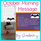 Halloween Morning Message - Morning Work -Traditional and Digital Classrooms!