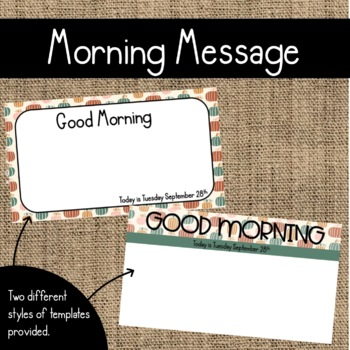 October Morning Message Templates