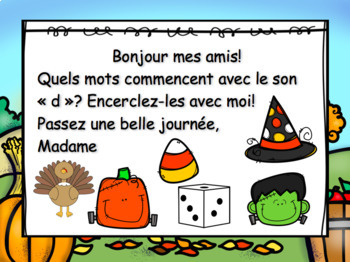 October Morning Messages/Messages du matin - French