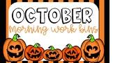 October Morning Work Bin Activities