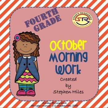 October Morning Work: Fourth Grade