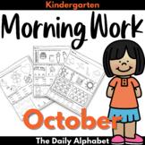 Kindergarten Morning Work October