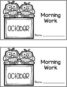 October Morning Work Quick Warm Ups