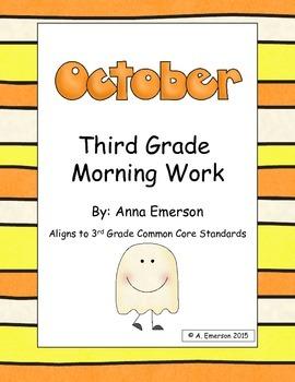 October Morning Work Third Grade Common Core Standards