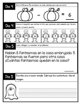 October Morning Work in Spanish
