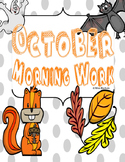 October Morning/Calendar Work For The Entire Month