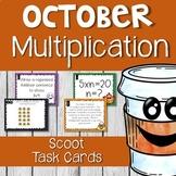 Halloween/October Multiplication Scoot Task Cards