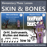 October Music Lesson Plan ~ Skin and Bones: Orff, Rhythm, Instruments and Melody
