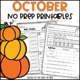 October NO PREP First Grade | Distance Learning