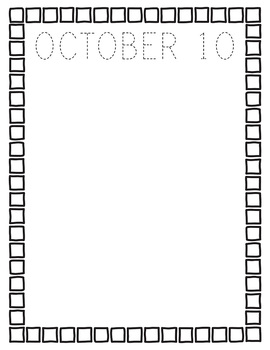 October NO PREP Journal Pages (Early Childhood)